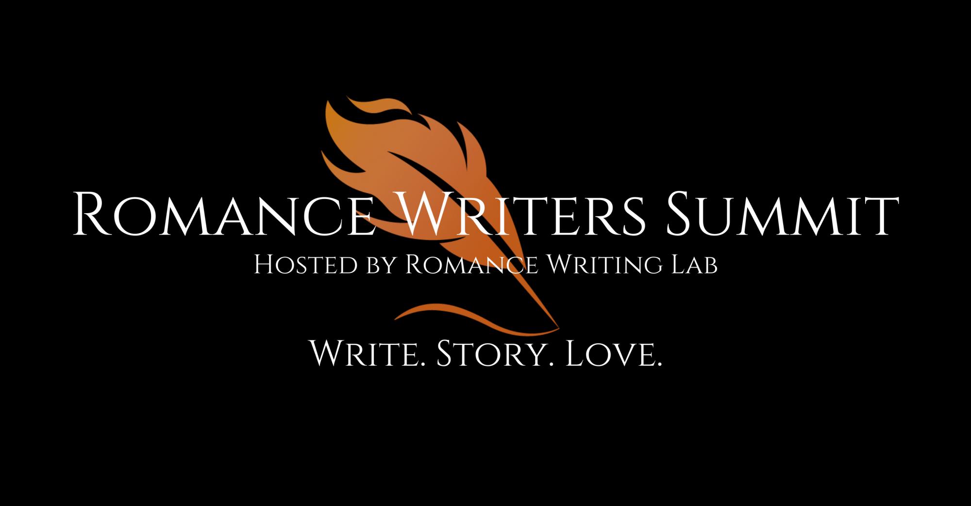 Romance Writers Summit logo Hosted by Romance Writing Lab